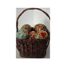 Pysanky Basket Rectangle Magnet