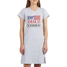 100% American Citizen Women's Nightshirt