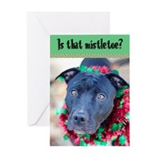 StubbyDog Mistletoe Greeting Card