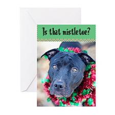 StubbyDog Mistletoe Greeting Cards (Pk of 20)