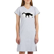 Women's Pink Vomiting Cat Nightshirt