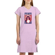 Obey the Maine Coon Cat! Women's Light Nightshirt