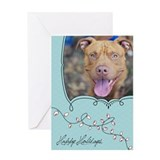 StubbyDog Holiday Lights Greeting Card