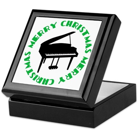 Piano Christmas Keepsake Box