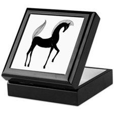Greek Horse Black and White Keepsake Box