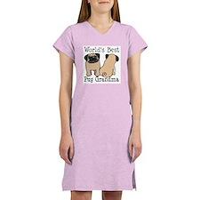 World's Best Pug Grandma Women's Nightshirt