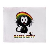 rasta kitty Throw Blanket