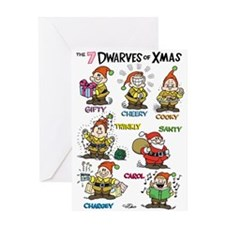 Dwarves Of Xmas Humor Holiday Card