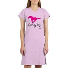 Giddy Up Pink Horse Women's Light Pajamas