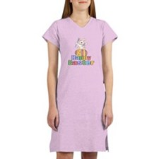 Happy Easter Artist Bunny Women's Nightshirt