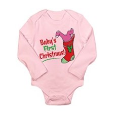 BABY'S FIRST CHRISTMAS (GIRL) Onesie Romper Suit