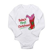 BABY'S FIRST CHRISTMAS (GIRL) Long Sleeve Infant B