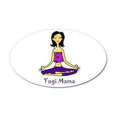Yogi Mama 35x21 Oval Wall Decal
