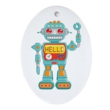 Hello Robot Ornament (Oval)