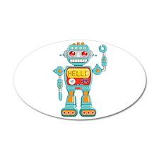 Hello Robot 38.5 x 24.5 Oval Wall Peel
