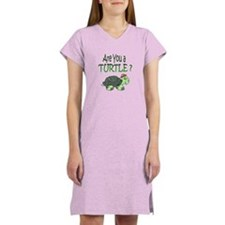 turtle w/back design Women's Nightshirt