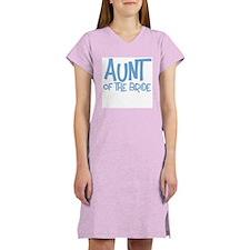 Hipster Aunt of Bride: Blue Women's Nightshirt