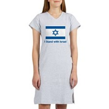 I Stand With Israel Women's Nightshirt