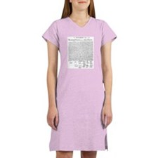 Declaration of Independence Women's Nightshirt