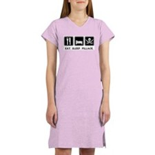 Eat. Sleep. Pillage. Women's Pink Nightshirt
