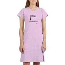 I sit here (stroke) Women's Nightshirt