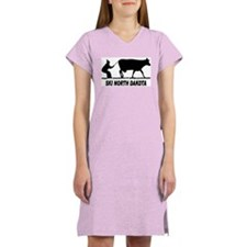 Ski North Dakota Women's Pink Nightshirt