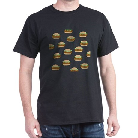 Cheeseburger Dots Black T-Shirt