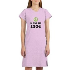 Made In 1974 Peace Symbol Women's Nightshirt