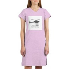 """""""Helicopter Next Step"""" Women's Pink Nightshirt"""