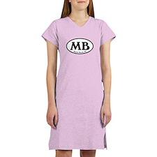 MB Myrtle Beach Oval Women's Nightshirt