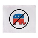 No More Republicans! Throw Blanket