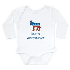 Born Democrat Long Sleeve Infant Bodysuit