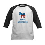 Born Democrat Kids Baseball Jersey