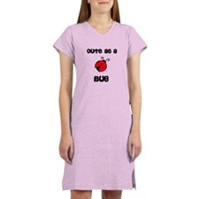 Cute As A Bug Ladybug Women's Nightshirt