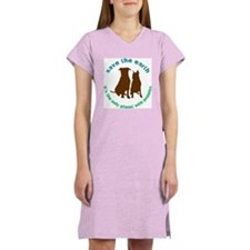 Cute Recycle earth Women's Nightshirt