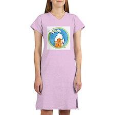 Cute Dog t logo Women's Nightshirt