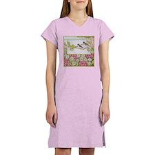 Chickadees and Daisies Women's Nightshirt