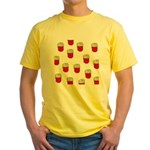 French Fries Dots Yellow T-Shirt