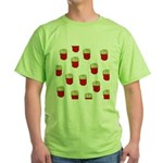 French Fries Dots Green T-Shirt