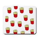 French Fries Dots Mousepad