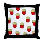 French Fries Dots Throw Pillow
