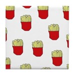French Fries Dots Tile Coaster