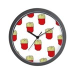 French Fries Dots Wall Clock