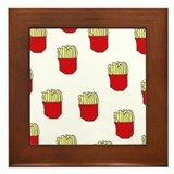 French Fries Dots Framed Tile