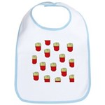 French Fries Dots Bib