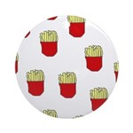 French Fries Dots Ornament (Round)