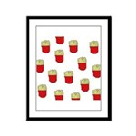 French Fries Dots Framed Panel Print