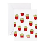 French Fries Dots Greeting Cards (Pk of 10)