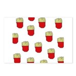 French Fries Dots Postcards (Package of 8)