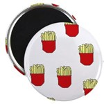 French Fries Dots Magnet
